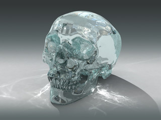 3D model of a human Crystal Skull of pre-Colombian origin