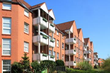Wohnhaus, Mehrfamilienhaus, Balkone, Kiel, Deutschland