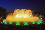 The famous Montjuic Fountain in Barcelona.Spain. poster