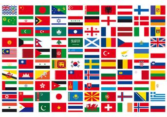 bandiere asia europa