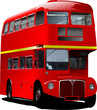 London double Decker  red bus. Vector illustration