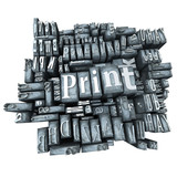 letter print isolate. poster