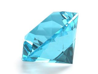 Sky blue topaz gemstone