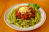 SpinachTagliolini with bolognese sauce