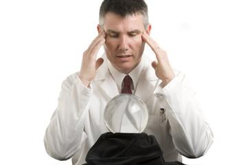 Doctor gazes into Crystal Ball