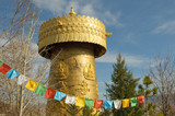 the biggest tibetan prayer wheel in the world, shangri-la, china poster