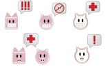 Swine flu Bubble poster