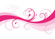 pink abstract floral background design