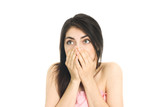 shocked girl poster
