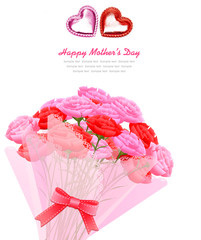Happy mother's day card template illustration
