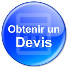 """Bouton """"Obtenir en Devis"""" (bleu)"""