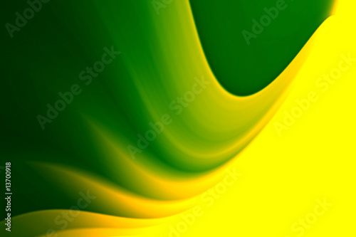 Leinwanddruck Bild Green and yellow motive