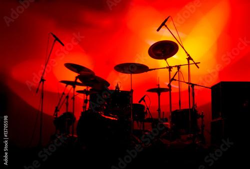 Leinwanddruck Bild Drums In Lights 3