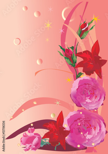 red and pink flower decoration