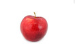 Single red  apple on white background.Isolated
