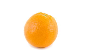 Single orange  on white background.Isolated