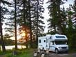 Leinwanddruck Bild - secluded RV campsite