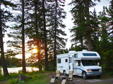 secluded RV campsite poster
