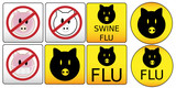 Swine Flu Signs poster