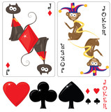 Kid's cards jack and joker