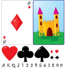 Kid's cards ace and back