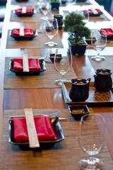 Asian Restaurant Setting