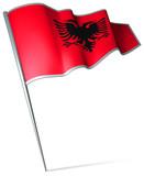 Flag pin - Albania poster
