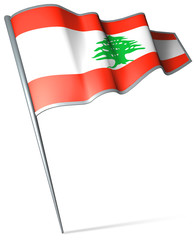 Flag pin - Lebanon