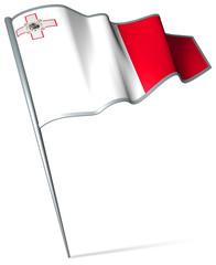 Flag pin - Malta