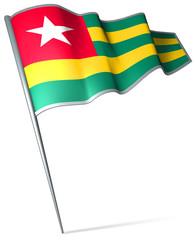 Flag pin - Togo