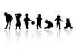silhouettes - children 4