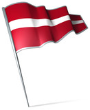 Flag pin - Latvia poster