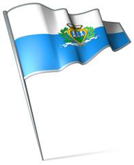 Flag pin - San Marino