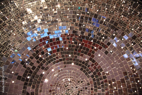 Leinwandbild Motiv closeup mirror ball
