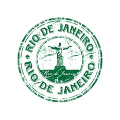 Rio de Janeiro grunge rubber stamp