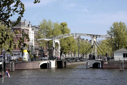 Plexiglas Kanaal Magere Brug 1, Amsterdam