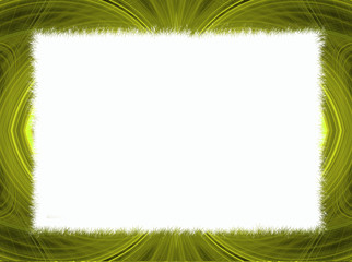 Gold and Yellow Fractal Border with White Copy Space
