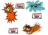 Vector cartoon Germs 02