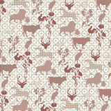 Seamless Animal Silhouette Pattern