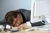 Asleep at work poster