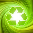 Rotating recycle symbol