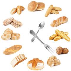 orologio di pane