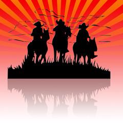 Los tres vaqueros
