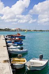 Boats Along Pier