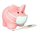 Epidemic of a swine flu poster