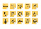 Yellow Pictogram Sticker Set poster