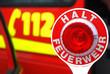 Feuerwehr Notruf 112 Einsatz Halt Feuerwehr Absperrung