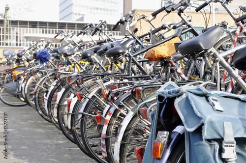 Leinwanddruck Bild Fahrräder, viele Fahrräder