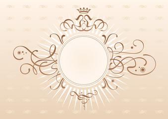 Art-nouveau motives emblem