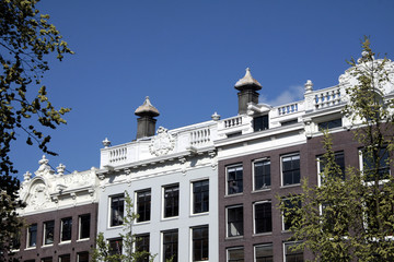 Toits des immeubles, Amsterdam
